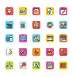 web design and development icons 7 vector image