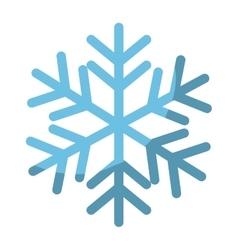 Winter snowflake icon vector image