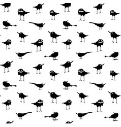 with happy crows on white background vector image