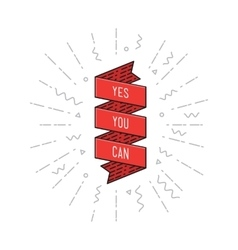 Yes you can Inspirational vector image