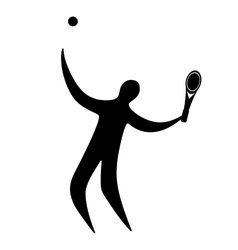 Champion athlete playing tennis vector image vector image