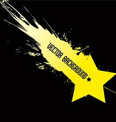 Falling star with background dirty art style vector image vector image