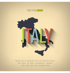 italy map in flat design Italian border vector image