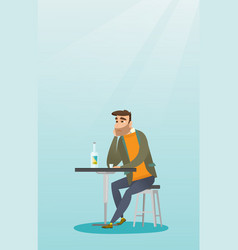 man drinking a cocktail in the bar vector image vector image