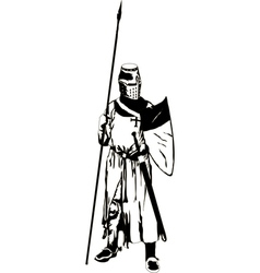 Medieval Knight with Spear vector image vector image