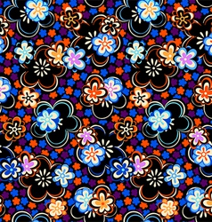 Seamless night floral pattern vector image vector image