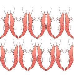shrimp seamless pattern regular ornament vector image vector image