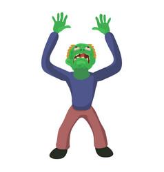 zombie looks up icon cartoon style vector image