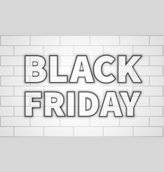 black friday inscription with a black glow vector image vector image