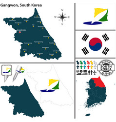 gangwon province south korea vector image vector image