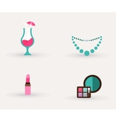 girls accessories makeup and jewelry vector image vector image