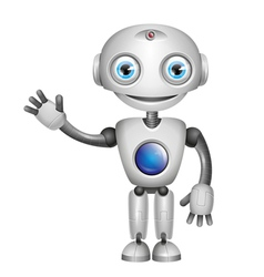 robot big eyes vector image