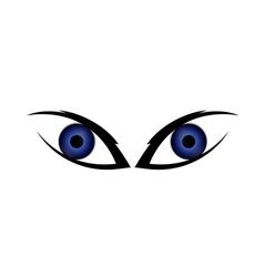 Two human eyes vector image vector image