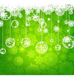 beautiful green christmas card vector image