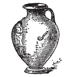 Hydria is a water jaw its has one handles vintage vector