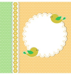 Vintage template with two birds vector image