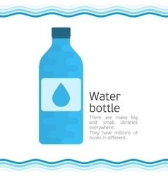 Bottle for water vector image vector image