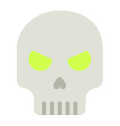 skull flat icon halloween and scary dead sign vector image