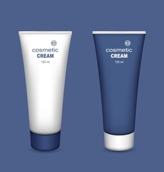 Tubes of cream vector image vector image