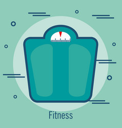 weight balance isolated icon vector image vector image