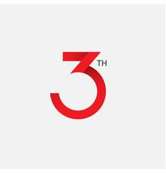 3 th anniversary template design vector