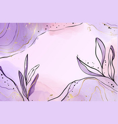 Abstract dusty violet liquid watercolor background vector