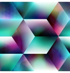 Abstract geometric cubes background vector image