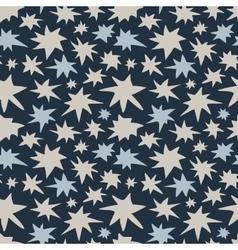 Abstract Night Sky Stars Seamless Pattern vector