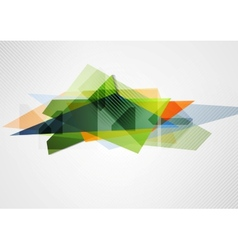 Abstract vibrant geometry shape vector