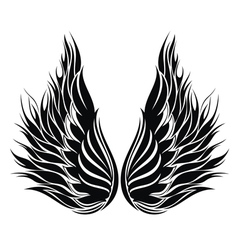 Angel wings vector image