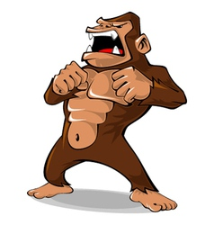 Angry Gorilla vector image