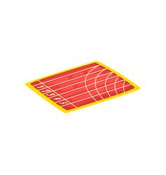 athletic stadium running track sports ground vector image