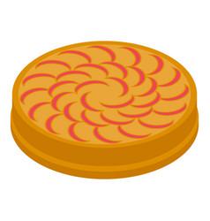 Autumn apple pie icon isometric style vector