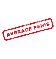 Average Penis Text Rubber Stamp vector