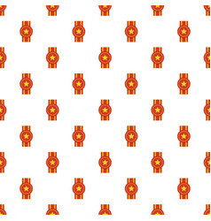 award ribbon pattern seamless vector image