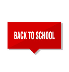 Back to school red tag vector