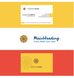 beautiful pizza logo and business card vertical vector image