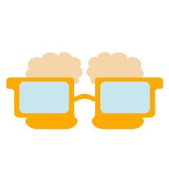 Beer shaped eyeglasses icon vector