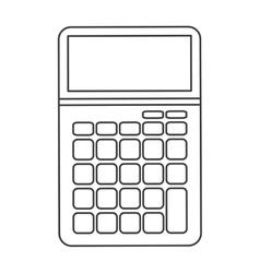 Big calculator icon line design vector