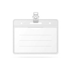 Blank ID identification card Badge isolated vector