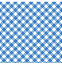 Blue seamless table cloth texture diagonal lines vector