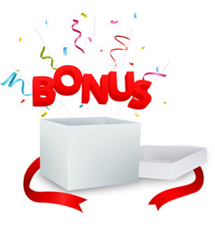 bonus out of the box vector image