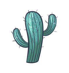 cactus green icon decorative floral tropical vector image