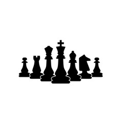 Chess symbol design art leisure strategy sport vector