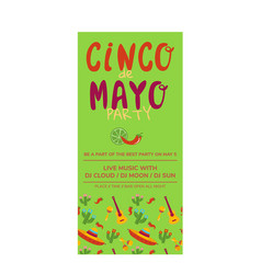 cinco de mayo flyer template vector image