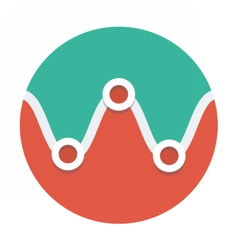 Circle flat icon curve line vector