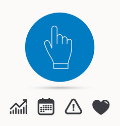click hand icon press or push pointer sign vector image