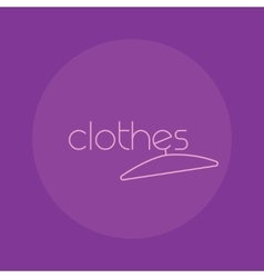 Clothes logo isolated creative fashion vector
