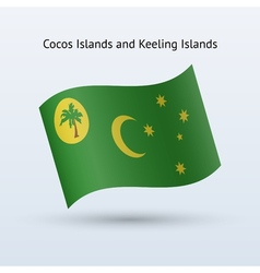 Cocos and Keeling Islands flag waving form vector