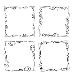 collection of frames rectangles for image vector image